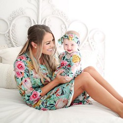 *Posh Peanut Tuscan Teal Mommy Robe