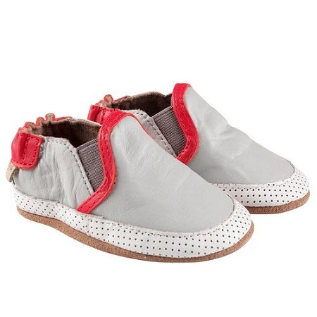 Robeez Grey Liam Soft Soled Shoes (Size 0-6 Months)