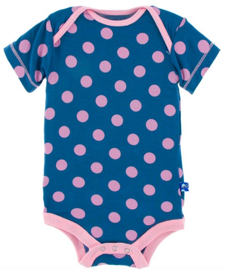 KicKee Pants Print Short Sleeve One-Piece - Twilight Dot - Preemie Size *CLEARANCE*