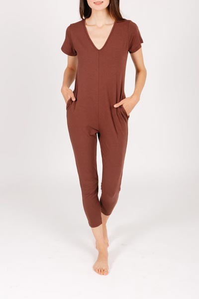 *Smash + Tess The Sunday Romper - Classic Cocoa