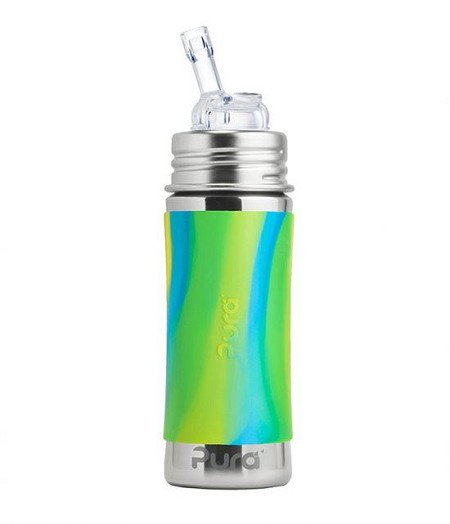 Pura Kiki Stainless Steel STRAW Bottle - 11 oz