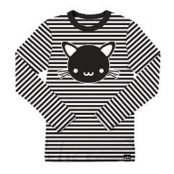 Whistle & Flute Kawaii Cat Striped Longsleeve T-Shirt
